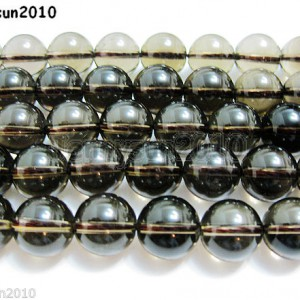Natural-Smoky-Quartz-Gemstone-Round-Loose-Beads-1554mm-4mm-6mm-8mm-10mm-12mm-261066376451