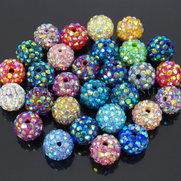 Premium-Czech-Crystal-Rhinestones-AB-Color-Pave-Clay-Round-Disco-Ball-Beads-10mm-371836140033