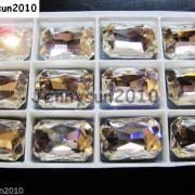 Quality-Czech-Clear-Crystal-Rectangular-Octagon-Fancy-Stones-Faceted-Foiled-Back-370715434508-2