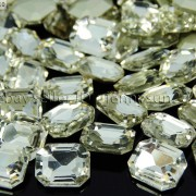 Quality-Czech-Clear-Crystal-Rectangular-Octagon-Fancy-Stones-Faceted-Foiled-Back-370715434508-2be8
