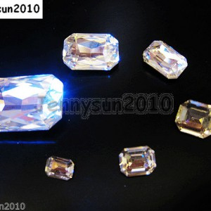 Quality-Czech-Clear-Crystal-Rectangular-Octagon-Fancy-Stones-Faceted-Foiled-Back-370715434508