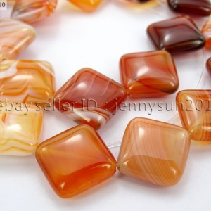 Red-Carnelian-Natural-Agate-Gemstone-Diagonal-Square-Loose-Beads-15-Strand-281162972188