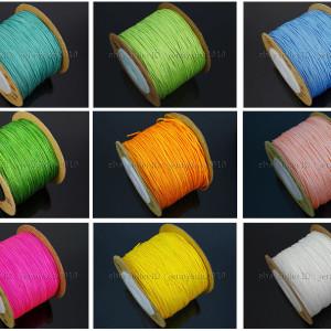 Satin-Silk-Braid-Rattail-Cord-Knotting-Thread-Rope-Beading-Jewelry-Design-Crafts-282081387476