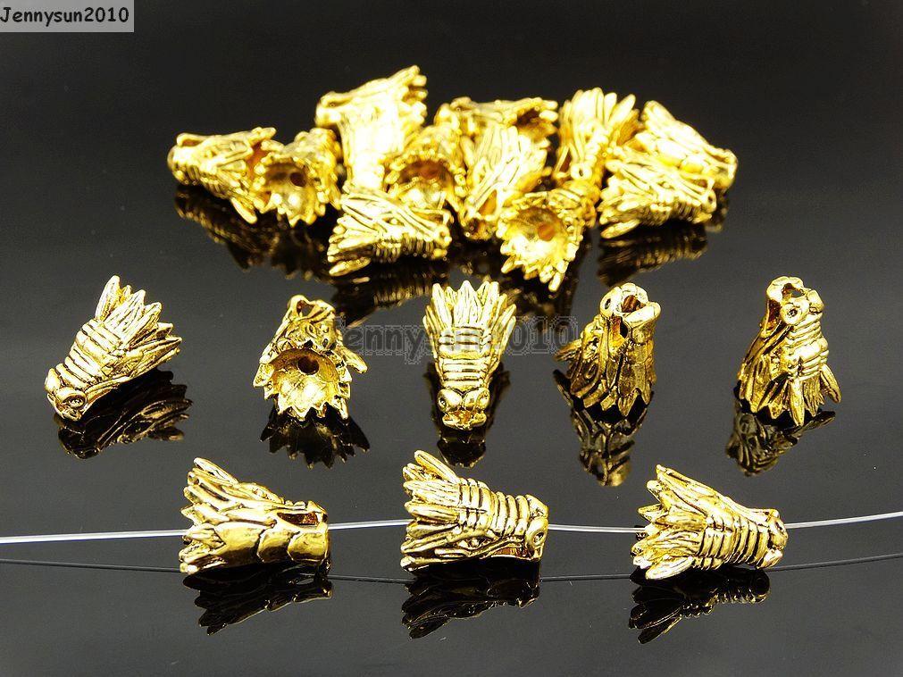 Antique Rose Gold Charm Bracelet