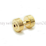 Solid-Metal-Dumbbell-Stripe-Style-Bracelet-Necklace-Connector-Spacer-Charm-Beads-371783261000-affb