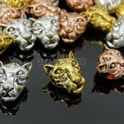 Solid-Metal-Tiger-Head-Bracelet-Necklace-Connector-Charm-Beads-Silver-Gold-Rose-281633631296