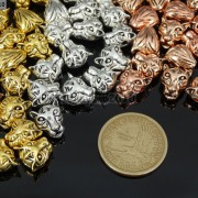 Solid-Metal-Tiger-Head-Bracelet-Necklace-Connector-Charm-Beads-Silver-Gold-Rose-281633631296-3