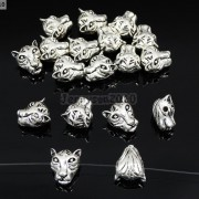 Solid-Metal-Tiger-Head-Bracelet-Necklace-Connector-Charm-Beads-Silver-Gold-Rose-281633631296-33f1