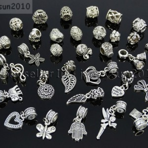 Tibetan-Silver-Big-Hole-Connector-Metal-Spacer-European-Charm-Beads-Findings-3-281896612105