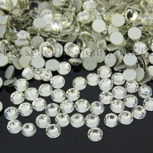 Top-Quality-Czech-Clear-Crystal-Round-Rhinestones-Flatback-Non-Hotfix-ss3-ss40-370874801874