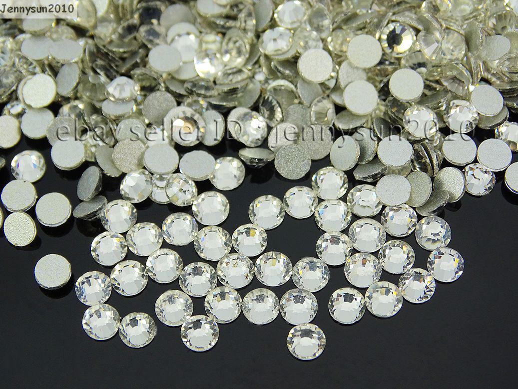 3da20c871846e Top Quality Czech Clear Crystal Round Rhinestones Flatback Non ...