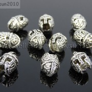 Vintage-Antique-Solid-Metal-Sparta-Helmets-Masks-Bracelet-Connector-Charm-Beads-281859675919-0c69