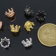 Zircon-Gemstones-Pave-Queen-Crown-Big-Hole-Bracelet-Connector-Charm-Beads-371878423265-2