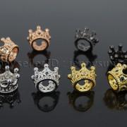 Zircon-Gemstones-Pave-Queen-Crown-Big-Hole-Bracelet-Connector-Charm-Beads-371878423265-4