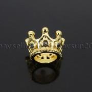 Zircon-Gemstones-Pave-Queen-Crown-Big-Hole-Bracelet-Connector-Charm-Beads-371878423265-6303