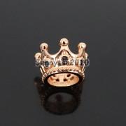Zircon-Gemstones-Pave-Queen-Crown-Big-Hole-Bracelet-Connector-Charm-Beads-371878423265-8c36