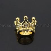 Zircon-Gemstones-Pave-Queen-Crown-Big-Hole-Bracelet-Connector-Charm-Beads-371878423265-d639